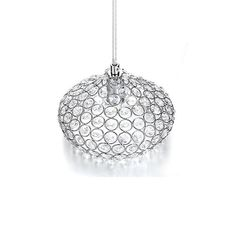 32.99$  Know more - http://ai7g8.worlditems.win/all/product.php?id=32786481759 - Chrome Finish 1 Light Single Crystal Pendant Lighting for Kitchen Island By TomDa