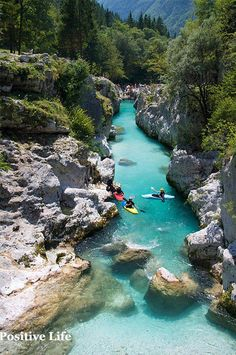 on the beautiful Soča River in Slovenia. Kayaking on the beautiful Soča River in Slovenia (by Peep O'Daze).Kayaking on the beautiful Soča River in Slovenia (by Peep O'Daze). Beautiful Places To Travel, Cool Places To Visit, Bósnia E Herzegovina, Slovenia Travel, Voyage Europe, Dream Vacations, Travel Around, Kayaking, Canoeing