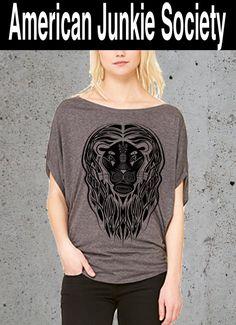 Lion Tribal T Shirt,Animal Flowy Tunic T-Shirt, Women's Graphic Tee Tumblr Top,Festival Clothes Yoga Slouchy TShirt'_()Instagram Like~Gift by AmericanJunkieSoc on Etsy https://www.etsy.com/listing/246850676/lion-tribal-t-shirtanimal-flowy-tunic-t
