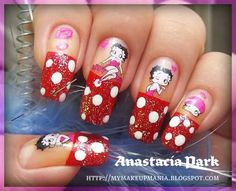 @V Jent - Betty Boop nail decals