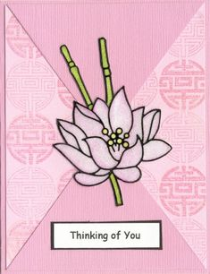 handmade card ... Asian theme ... monochromatic pinks ... Hanko Designs ... lortus pluwer ...