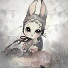 Product Description : Home Decor Nordic Canvas Painting Wall Art Rabbit Girl Animal Abstract Watercolor Print Kid Bedroom Living Room Poster Picture Color:As the photo shown Package piece,roll in the PVC tube Size(Number of guests,Weight): 1 XS: S: Art Et Nature, Watercolor Pictures, Room Posters, Poster Pictures, Canvas Poster, Abstract Watercolor, Art For Kids, Whimsical, Art Prints