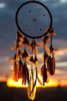 Feathers & beads.