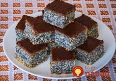 Simple poppy seed cake This is traditional slovak cake. It is easy for preparation and very good. I love it, because this cake preparing my grandma when I was a little girl. Slovak Recipes, Czech Recipes, Ukrainian Recipes, Easy Cake Recipes, Sweet Recipes, Dessert Recipes, Desserts, Low Carb Brasil, Poppy Seed Cake