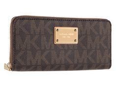 Michael Kors logo zip-around wallet