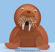 Walrus paper plate craft!