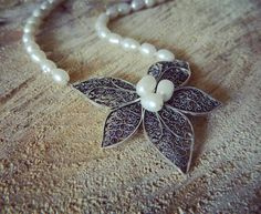 Filigree Jewelry, Silver Filigree, Handcrafted Jewelry, Handmade, Pearl Necklace, Necklaces, Pearls, Instagram Posts, Handmade Chain Jewelry