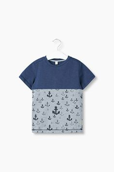 Esprit / Väripalkki-T-paita, ankkuripainatus