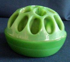 Davidson Jade glass flower frog c.1912