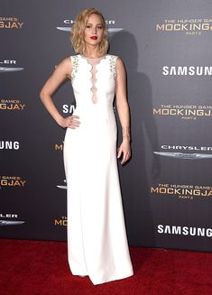 Jennifer Lawrence en un look Dior