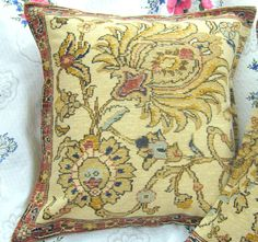 2 Custom Shams RALPH LAUREN fabric NORTHERN CAPE Tapestry 22 x 22 GOLD