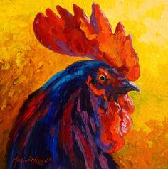Cocky - Rooster Painting by Marion Rose - Cocky - Rooster Fine Art Prints and Posters for Sale