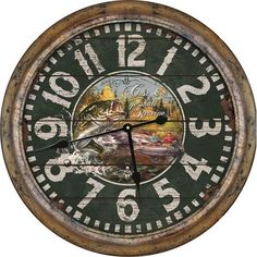 Rivers Edge Products 26Inch Distressed Fishing Clock >>> You can find out more details at the link of the image.