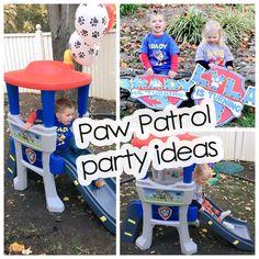 Three year old birthday party, paw patrol theme party ideas Paw Patrol Theme Party, Paw Patrol Birthday, Party Themes, Party Ideas, Candyland, Pre School, Alice In Wonderland, First Birthdays, Kids Toys