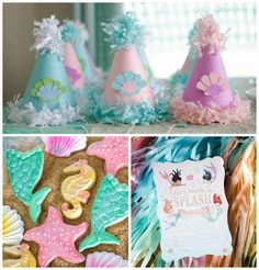 Magical Mermaid Birthday Party via Kara's Party Ideas! KarasPartyIdeas.com (5)