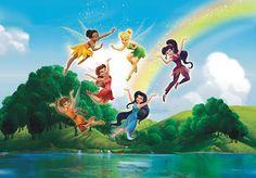 Fotomural infantil Hadas de Disney para toda una pared. Este mural gigante es ideal para habitaciones infantiles, cuartos de juego o guarderías.