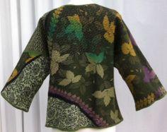 Hand Felted Merino Wool And Silk Clutch Bag Blue by VendaFelt