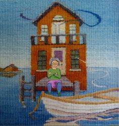 Sarah Swett, tapestry detail with digital enhancement for her blog