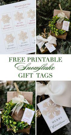 Free Printable Snowflake Gift Tags - free Printable Christmas gift tags