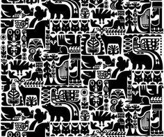"""""""Kanteleen Kutsu"""" pattern by Sanna Annukka for Marimekko."""