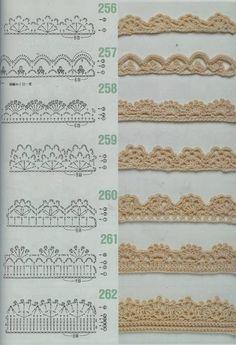 Borders lace shell picot