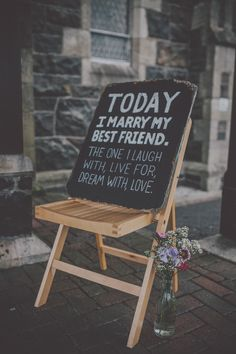Love this saying. Might have one too because my brother said he hates cheesy wedding sayings and he's the one doing the ceremony