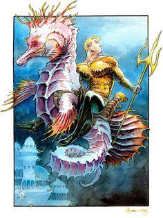 Aquaman (Arthur Curry) Others, Justice League of America DC Comics Superman, Batman, Green Arrow, Gi Joe, Comic Books Art, Comic Art, Aquaman Dc Comics, Jason Momoa Aquaman, Black Manta
