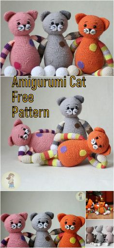 In this article we will share the amigurumi chubby cats free crochet pattern. Amigurumi related to everything you can not find and share with you. Crochet Cat Pattern, Crochet Rabbit, Crochet Patterns Amigurumi, Crochet Dolls, Crochet Yarn, Free Crochet, Free Pattern, Yarn Projects, Crochet Projects