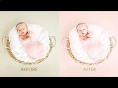 Newborn Color Processing - Baby Photo Editing Photoshop Tutorial [PSD   Action Included] - YouTube