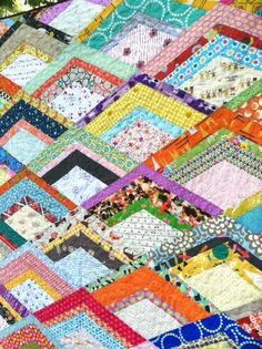 Firedrill Quilt- colorful and full of great prints!