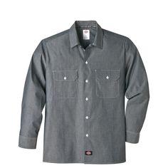 Dickies Long Sleeve Chambray Shirt