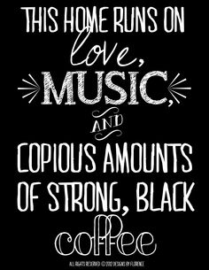 Love, Music, & Coffee Digital Printable. $2.99, via Etsy.