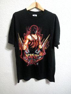 63e4a709b1e52 Kane out of fire 2001 World Wrestling Federation WWF Shirt Black Colour  Size Medium