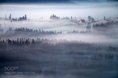 The red hut by MarcinSobas #landscape #travel