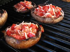 Grilled Stuffed Portabella Mushroom Recipe.  Makes the mushrooms so pretty:)