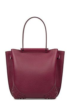 Burgundy Wave Small Hammered Leather Tote
