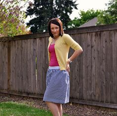Suburbs Mama: Simple Elastic Skirt