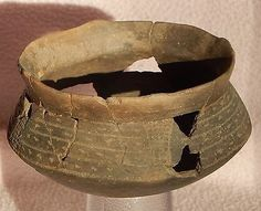 Pre 1600 Arkansas Caddo Incised Engraved Bowl Pottery Native American Indian