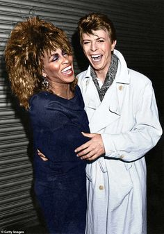 American pop and soul singer Tina Turner with English singer-songwriter David Bowie, Tina Turner Proud Mary, Female Rock Stars, Happy 80th Birthday, Mick Ronson, Hollywood Music, Rock Star Party, Jazz Funk, Women Of Rock, Soul Singers
