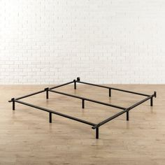 Zinus has reinvented the bed frame with the Adjustable Compack and easy-to-set-up base, engineered for optimum strength and support for Twin/Full/Queen and Full/Queen/King beds respectively. It sets up in minutes without tools. The 9 support legs are intelligently recessed so you don't hit your toes while making the bed. Zinus Adjustable Compack bed frames are meant to be used with a box spring and mattress set and will adjust to fit either Twin/Full/Queen or Ful...