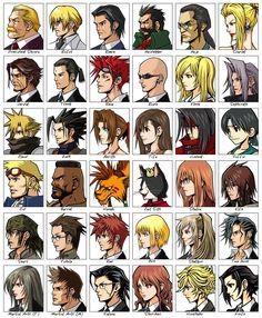 Character Faces - Characters Art - Before Crisis: Final Fantasy VII Final Fantasy Vii Remake, Artwork Final Fantasy, Final Fantasy Characters, Fantasy Series, Fantasy World, Tifa Ff7 Remake, Final Fantasy Collection, Saga, Character Art