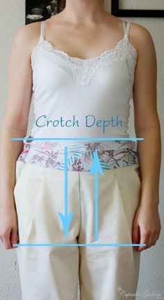 Helpful information about CROTCH DEPTH for sewing trousers.  Yeah, that's right, CROTCH DEPTH.
