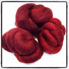 80/wool 20/tussah silk Romeldale cross overdyed brown by Jackpie