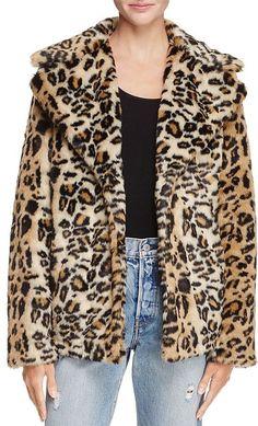 AQUA Leopard Print Faux Fur Coat - 100% Exclusive Minimal Fashion New york fashion #newyork #minimal  #fashion