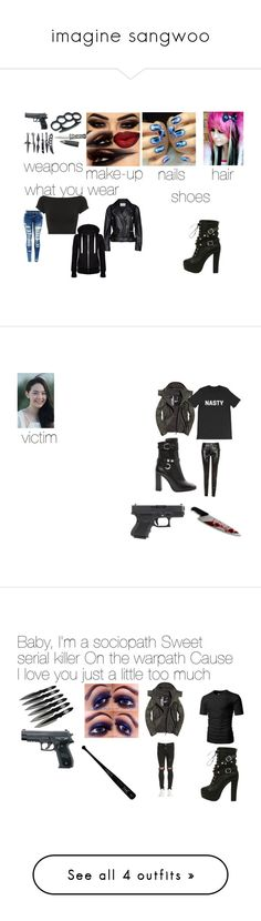 """""""imagine sangwoo"""" by hansen-justin ❤ liked on Polyvore featuring Helmut Lang, Acne Studios, hate, cosplay, CHUP, Tommy Hilfiger, Superdry, Isabel Marant, Represent and NYX"""