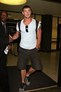 Chris Hemsworth as Blake. Fighting to forgive