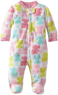 Little Me Baby-Girls Newborn Frog Blanket Sleeper Girl 47d88689a