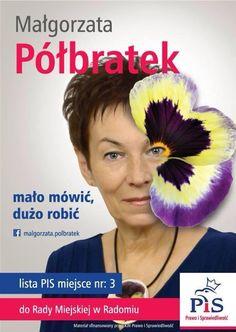 Jak przykuć uwagę? Wielkim kwiatkiem, który zakryje połowę naszej twarzy. Seems legit. #wybory2014 #plakatywyborcze