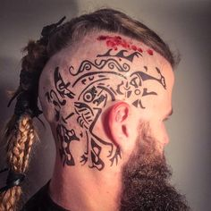 ragnar head tattoos - Google Search