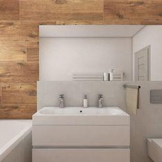 Moderní koupelna BUENO - vizualizace Bathroom Inspiration, Alcove, Bathroom Lighting, Sweet Home, Bathtub, Mirror, Furniture, Design, Home Decor
